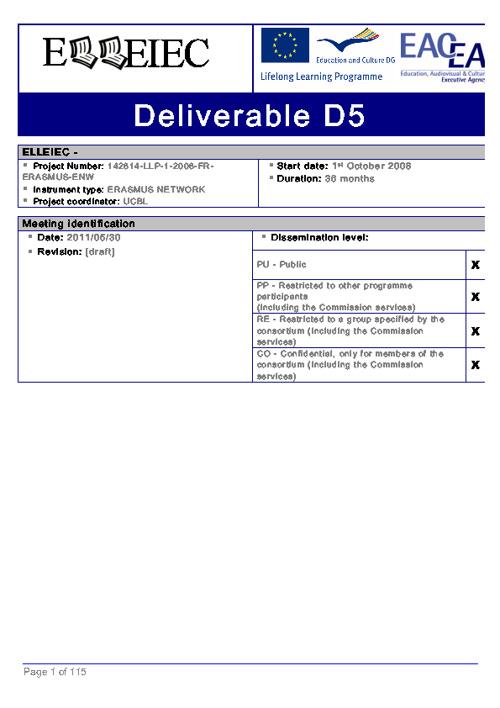 ELLEIEC - deliverable Task 5