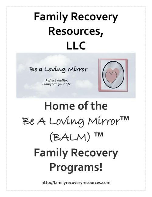 A - Family Recovery Resources - presentation cover page