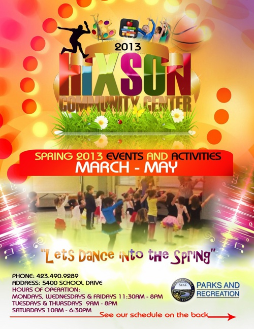 Spring Brochure 2013 Hixson Community Center