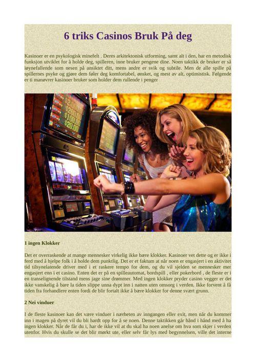 6 triks Casinos Bruk På deg