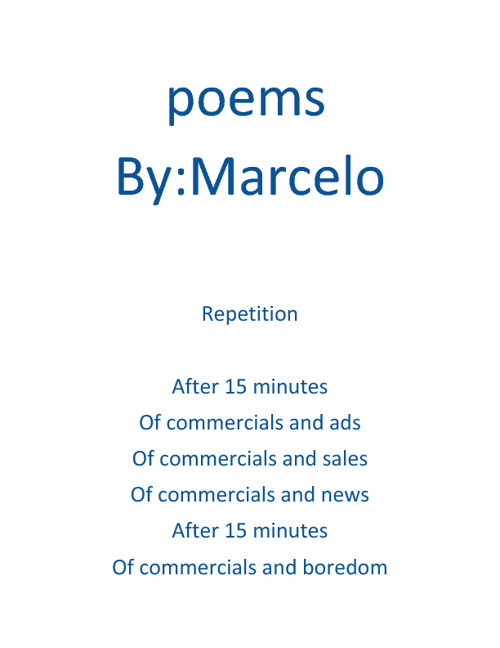 THE AMAZING POEMS OF MARCELO BY:MARCELO   FULL EDITION
