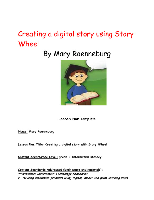 Digital storytelling using Story Wheel final to post