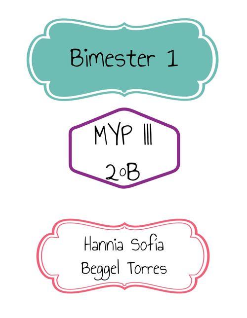 MYP III Hannia Beggel Bimester 1