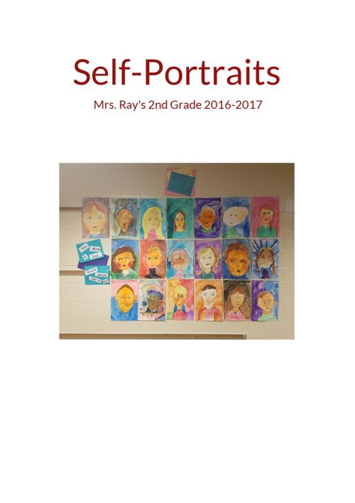 Self Portraits 2nd Grade 2016-2017