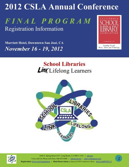 2012 Conference Final Program