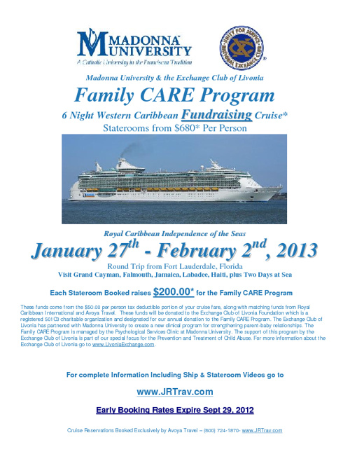Family CARE Program Cruise