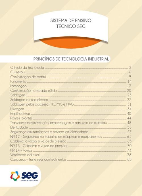 Segurança do trabalho II Princípios de Tecnologia Industrial