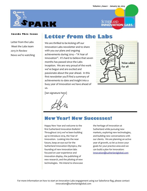 WIP - Innovation Labs newsletter