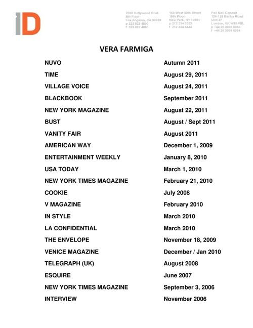Vera Farmiga