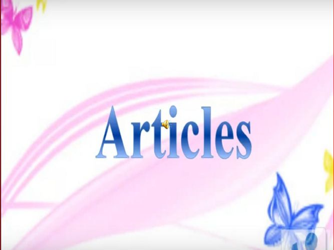 ppt on articles (1)