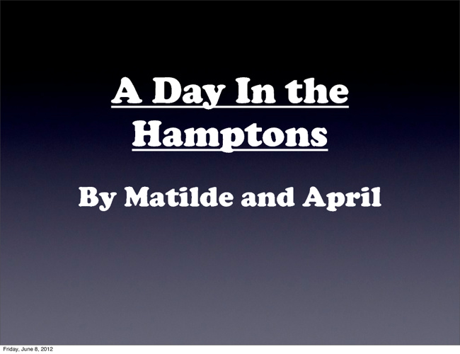 April and Matilde's Interactive Story