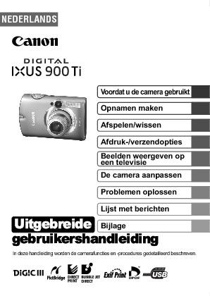 Canon SD 900 Handleiding