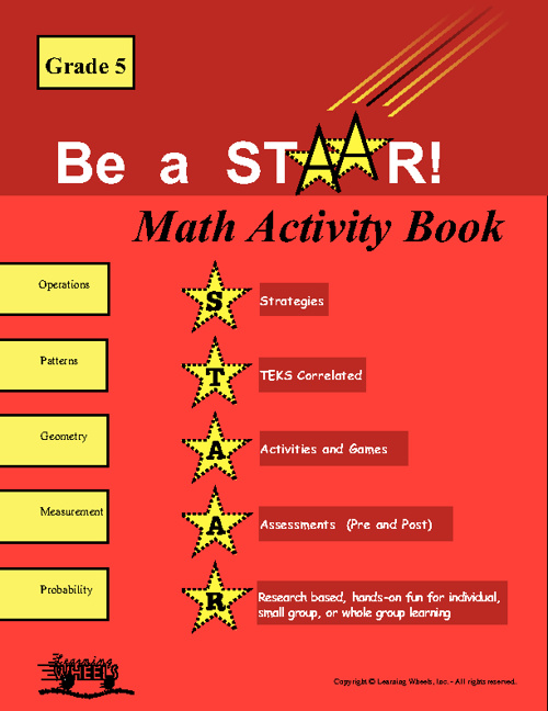 Sample of 5th Grade STAARS Math Activity Book