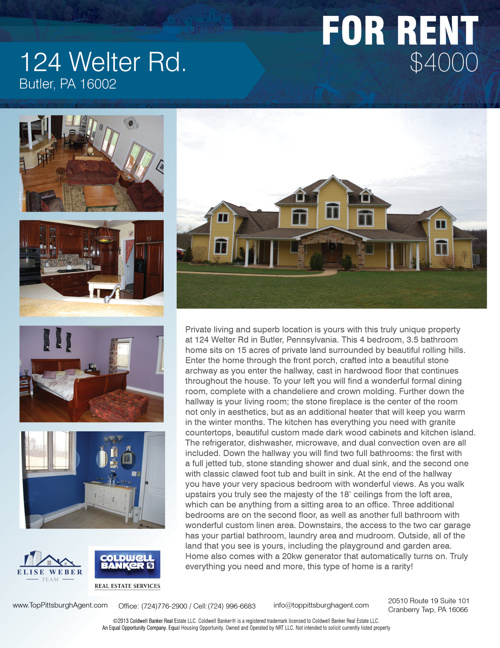 124 Welter Rd Oakland Township, PA 16002