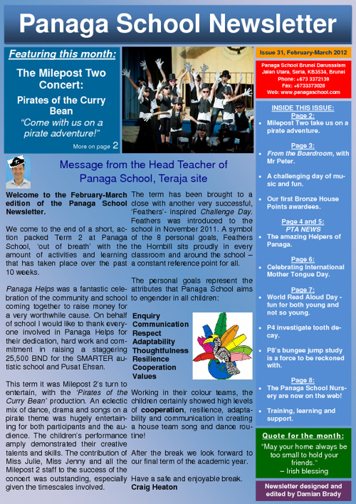 Panaga School Newsletter February March 2012