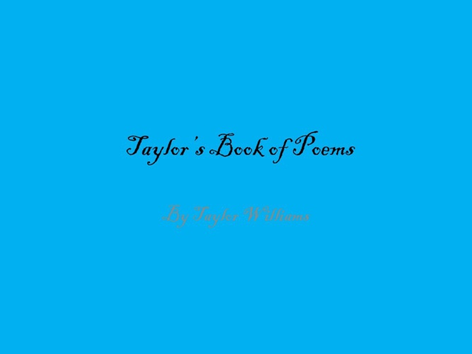 Taylor's Book of Poems