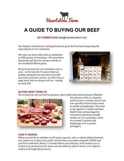 A guide to buying our beef