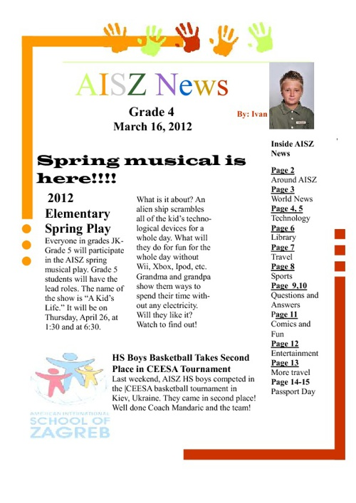 AISZ News by Grade 4
