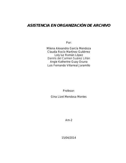 TRABAJO DE ARCHIVO