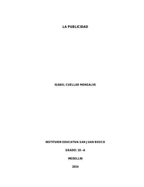 GRADO 10-A Cuellar Monsalve Isabel LA PUBLICIDAD (1)