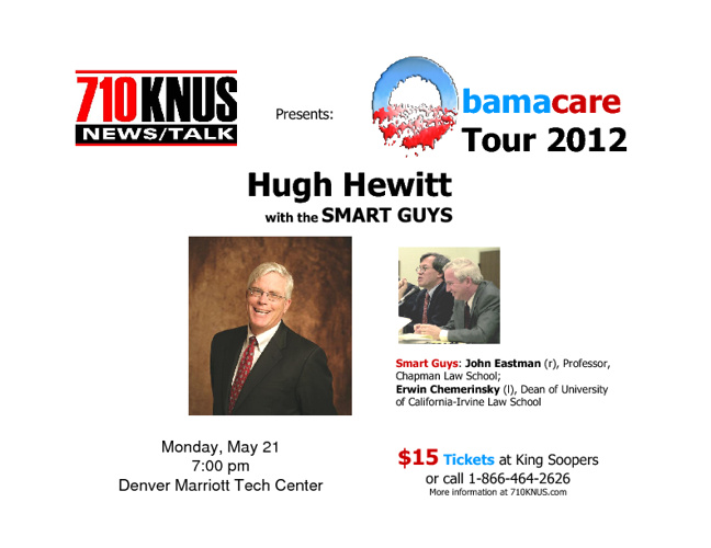 ObamaCare Tour with Hugh Hewitt and The Smart Guys
