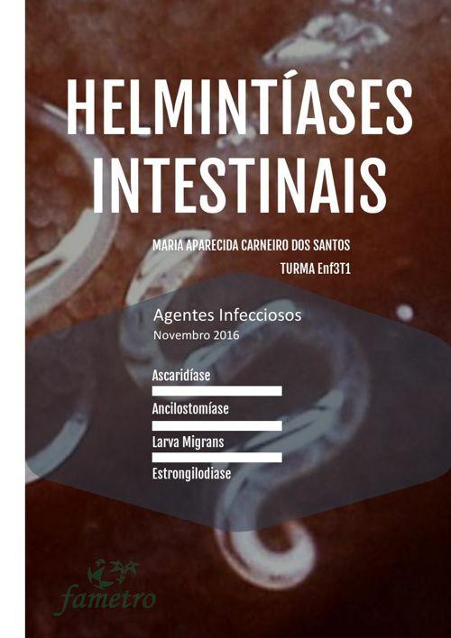 Agentes Infecciosos- Helmintíases Intestinais.