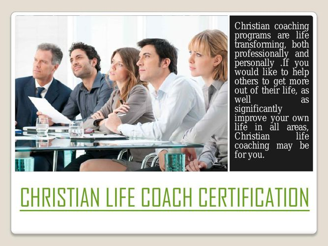 christian life coach certificate