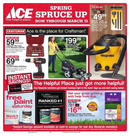 Spring Spruce Up! Now through March 11th.