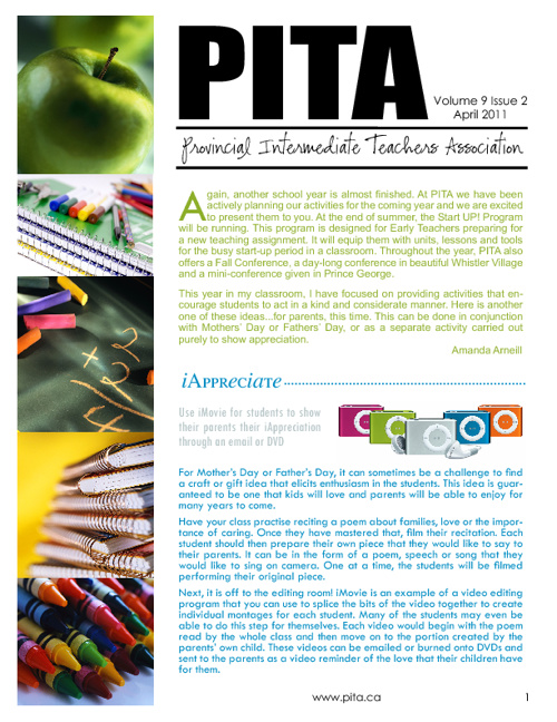 PITA April 2011 Newsletter