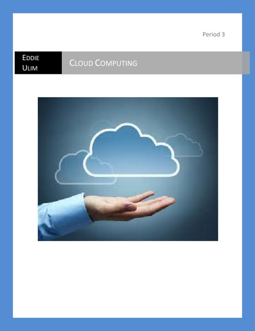 The Story Of Cloud Computing