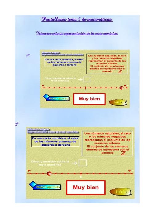 Pantallazos tema 5 de matemáticas.