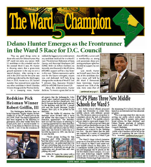 Delano Hunter ~ Ward 5 Newsletter