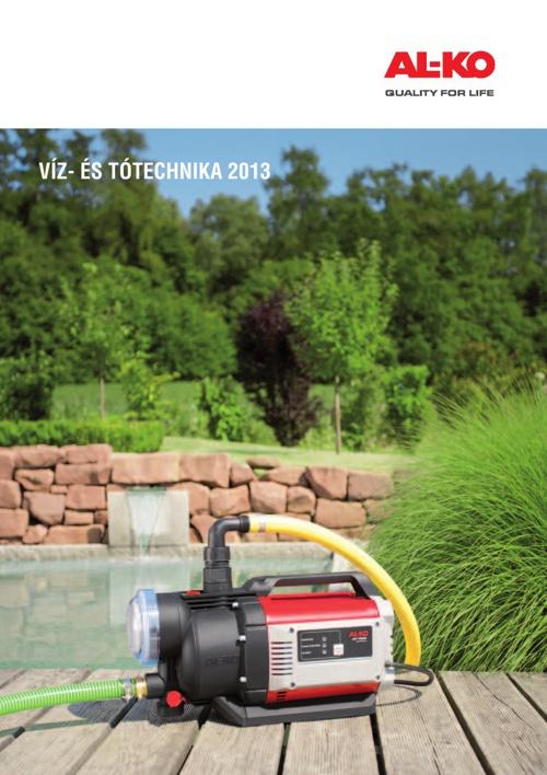 AL-KO Víz- és tótechnika katalógus 2013 - Kertigép Á