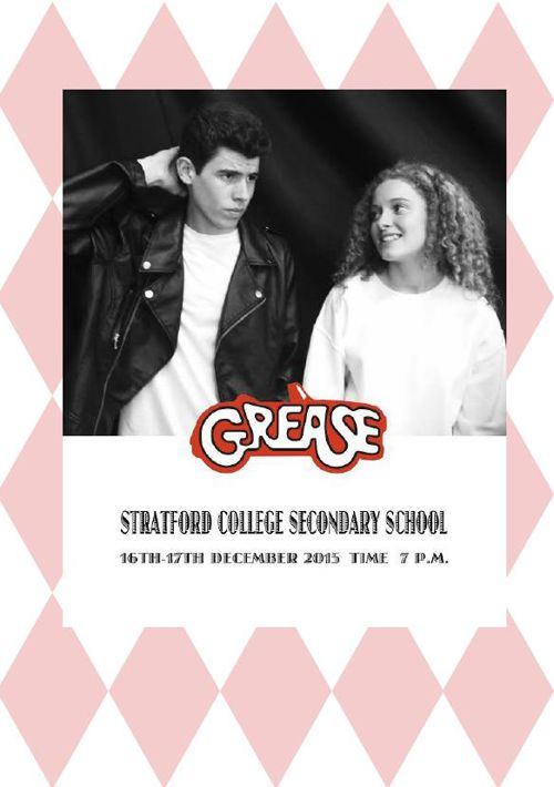 "Stratford College Productions present ""Grease"""