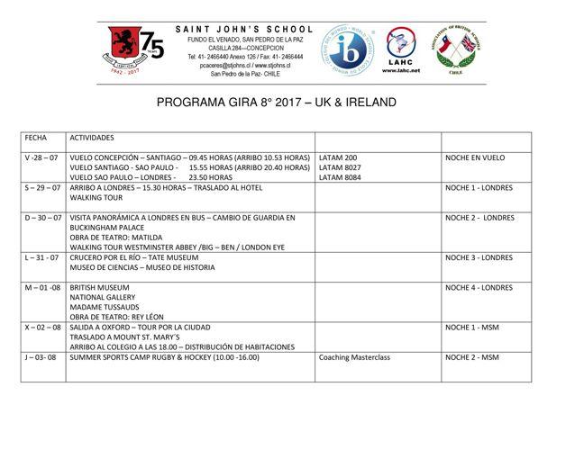 Programa General Gira 2017