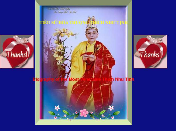 TIỂU SỬ HÒA THƯỢNG THÍCH NHƯ TỊNH(Biography of THICH NHU TINH)