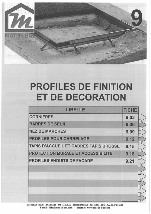 Catalogue Profiles de Finition