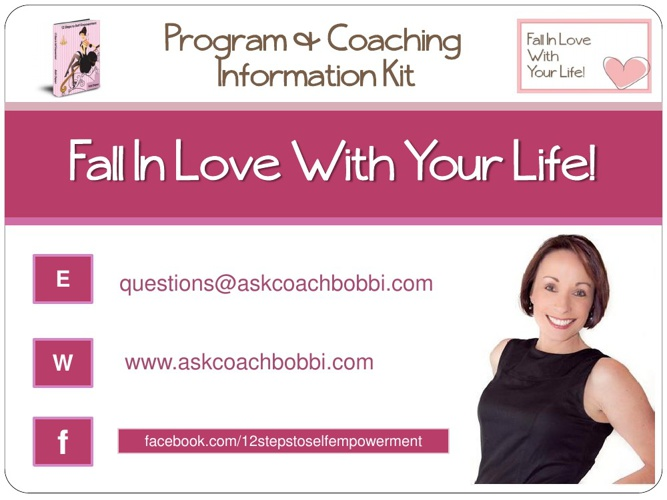 Fall In Love With Your Life Program Information Kit