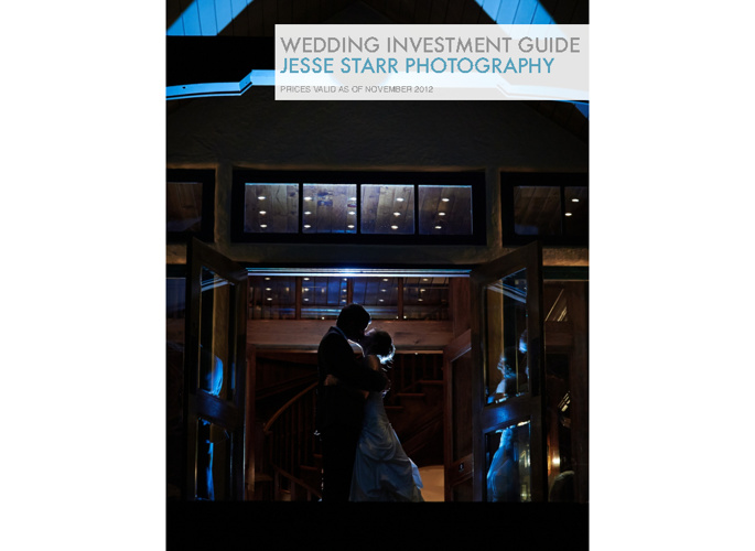 Weddings by Jesse Starr Photography Investment Guide