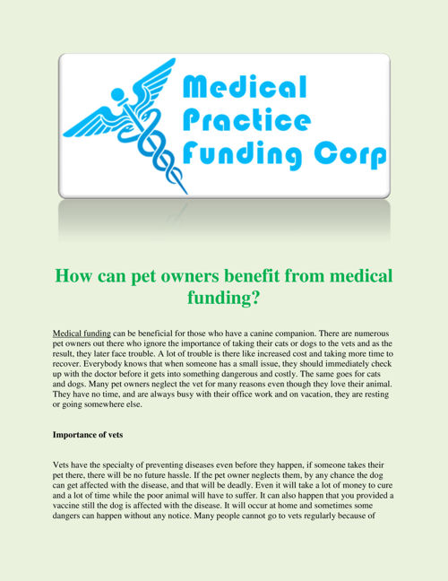 How_can_pet_owners_benefit_from_medical_funding