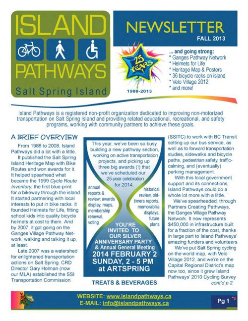 Island Pathways 2013 Fall Newsletter
