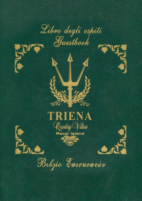 Triena Villas - Βιβλίο Επισκεπτών Καλλιόπη