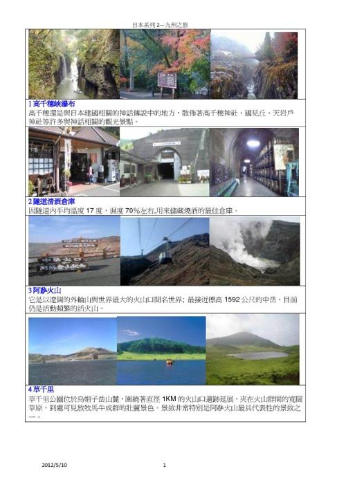 日本系列2--九州之旅