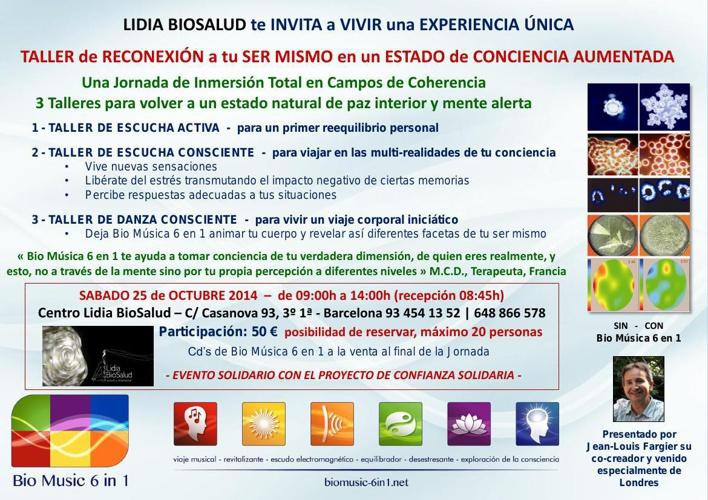25/OCT/2014 Intensivo de inmersión Total en Campos de Coherencia