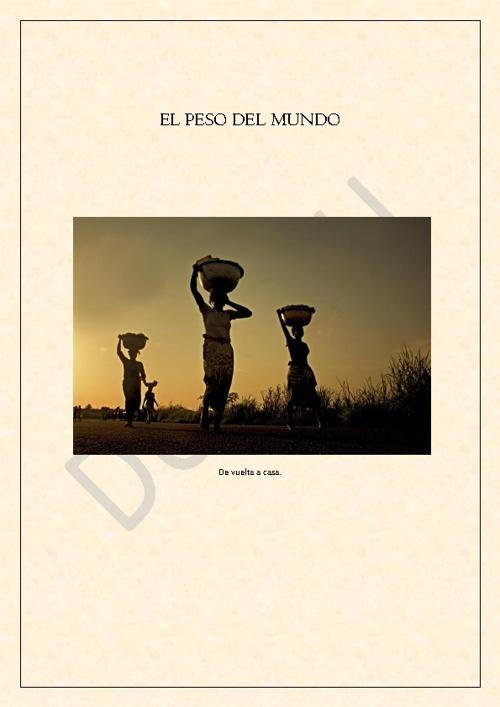 """EL PESO DEL MUNDO  """"Sobre la palabra Colonización"""""""