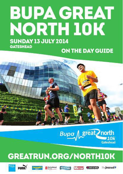 Bupa Great North 10K - On The Day Guide