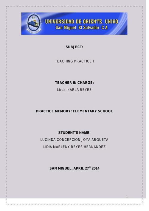 teachin practice I memory