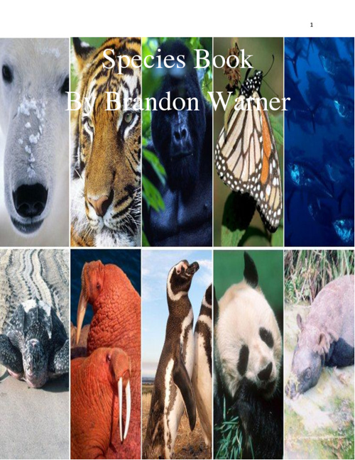 Species Book - Brandon Warner