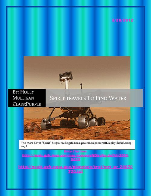 Spirit Travels To Find Water