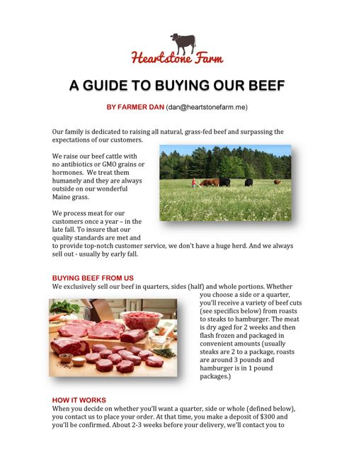 A guide to buying our beef copy